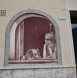Casoli, the Village Decorated wth Sgraffito Paintings