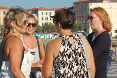 Chatting in Livorno