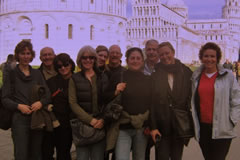 A group visiting Pisa