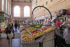 at the market in Livorno