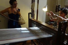 Visit to Maria Niemack's looms